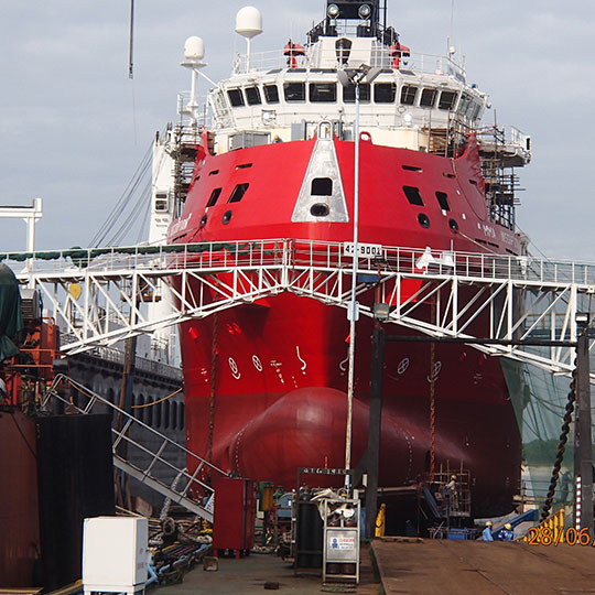 Bayu Undan Field - Dual Purpose Platform Support Vessel