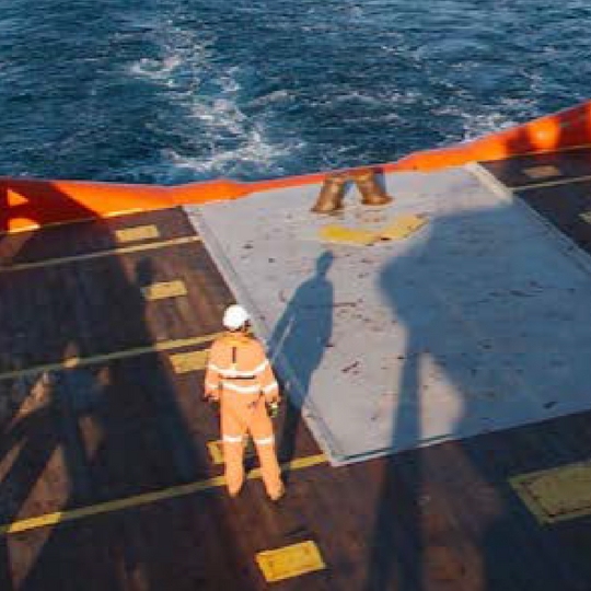 REPORT DUE ON OPEN-DECK SAFETY DEVICE
